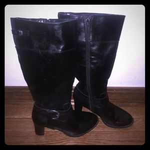 Lifestyle black heeled boots